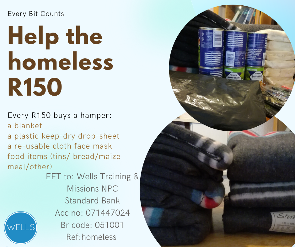 "Sponsor a hamper or a dignity bag. More info on our ""Mercy"" page."